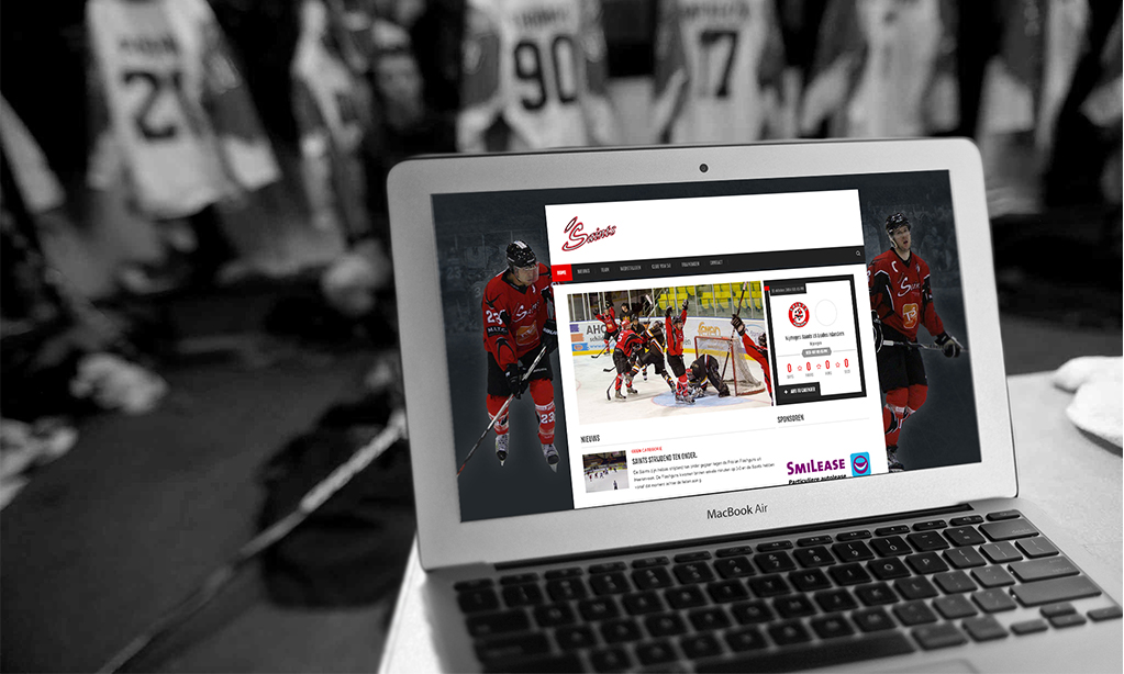 Website IJshockey team Nijmegen Saints