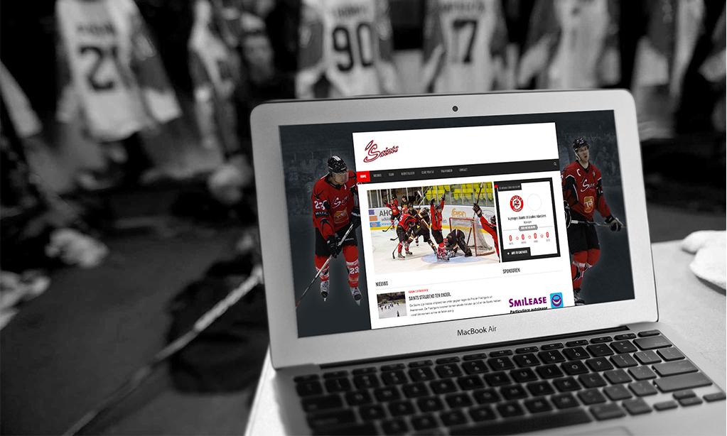 Website IJshockey team Nijmegen Saints